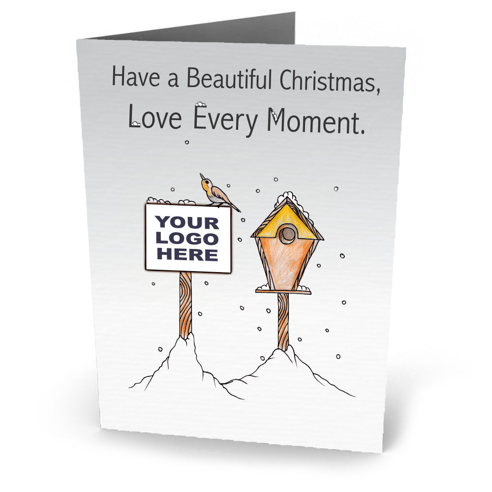 Company Christmas Cards.Corporate Christmas Cards Personalised With Logo Bespoke